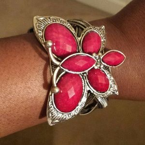 Red butterfly cuff